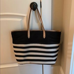 Stella & Dot large Hudson striped tote